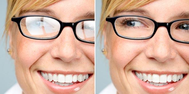 پوشش لنز عینک