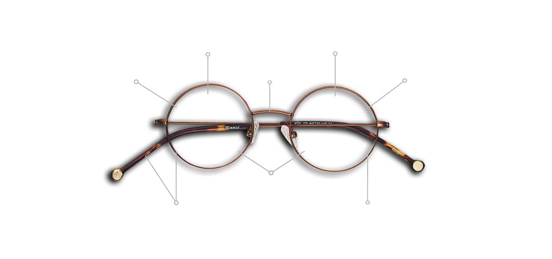 کالبدشکافی عینک طبی: ۹ بخش اصلی عینک را بشناسید