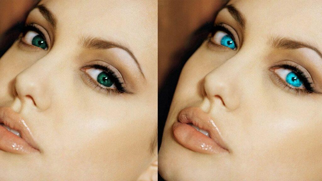 عمل تغییر رنگ چشم