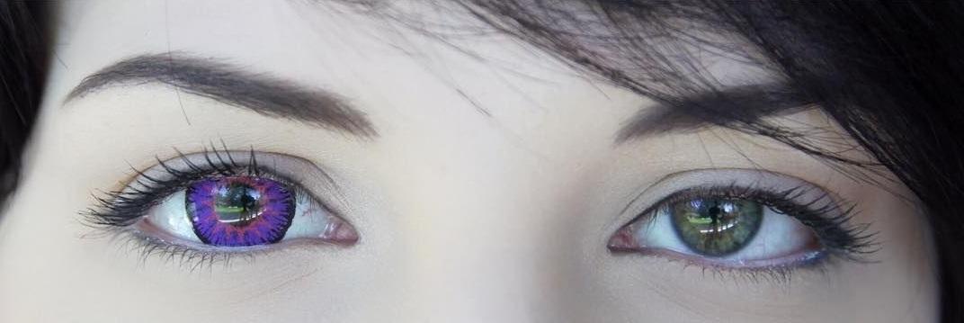 آیا از لنز بنفش میتوان برای چشم قهوهای استفاده کرد؟