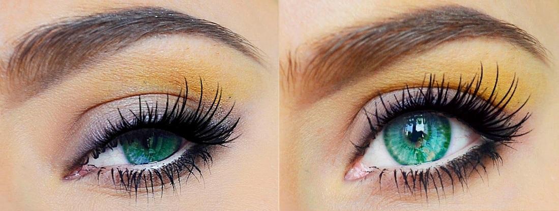 ۱۰ مدل آرایش چشم برای لنز سبز (آموزش تصویری)