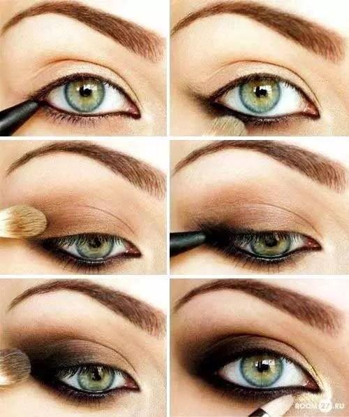 آرایش اسموکی با لنز سبز