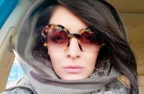عینک آفتابی ساره بیات ، هنرپیشه نقش «رستا» در سریال ایرانی «دل»