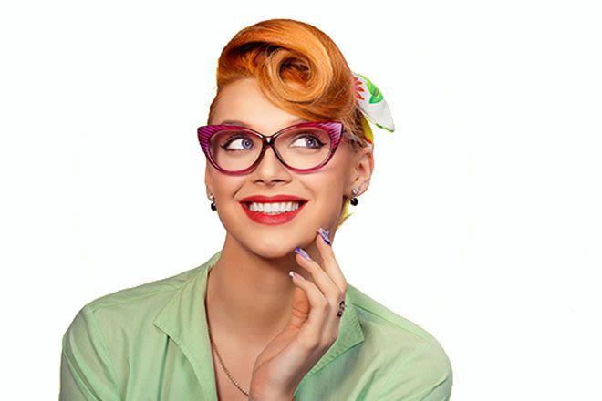 عینک برای صورت لوزی