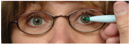 اعداد روی عینک