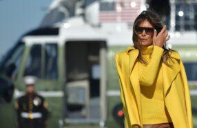 مدل عینک آفتابی ملانیا ترامپ، بانوی اول آمریکا